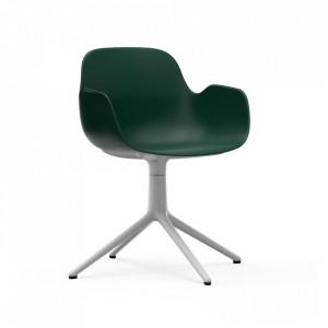 Scaun birou rotativ verde/alb din polipropilena Form 4L Normann Copenhagen