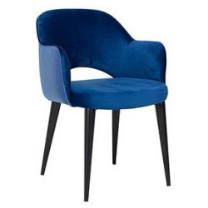 Scaun dining albastru din poliester si metal Giovanna Richmond Interiors