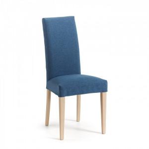 Scaun dining albastru inchis din lemn si poliester Freia La Forma