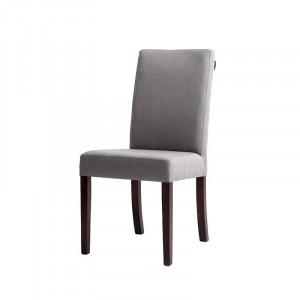 Scaun dining gri din lemn si textil Wilton Custom Form