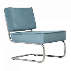 Scaun lounge albastru din nailon si metal Ridge Zuiver