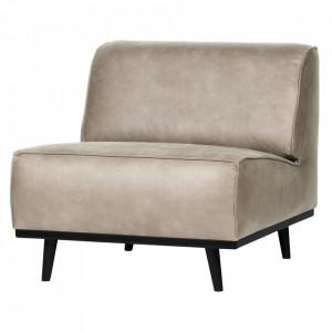 Scaun lounge gri/negru din poliuretan si lemn Statement Be Pure Home