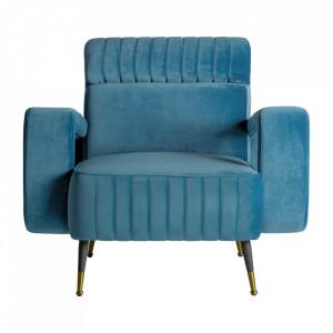 Scaun lounge multicolor din catifea si fier Sladki Vical Home