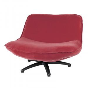 Scaun lounge rosu stacojiu din poliester si lemn Forli Seven LifeStyle Home Collection