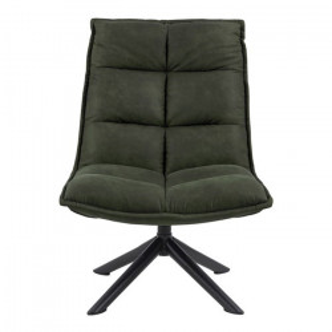 Scaun lounge verde oliv/negru din textil si metal Storm Actona Company