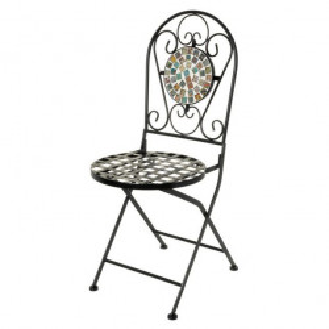 Scaun pliabil pentru exterior multicolor din ceramica si metal Caprice Unimasa