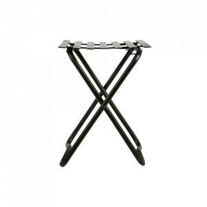 Scaunel negru din metal 36,5x37 cm Brave Be Pure Home