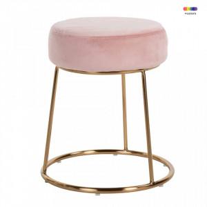 Scaunel roz/auriu din fier si catifea Rory Pink Gold Richmond Interiors