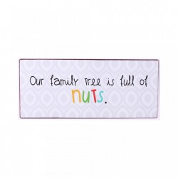 Semn metalic alb 30.5x13 cm Our Family Tree