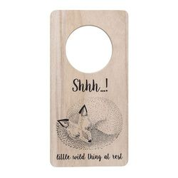 "Semn pentru usa ""Shhh...! Little wild things at rest"" Bloomingville"