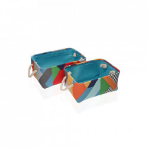 Set 2 cosuri multicolore din poliester Brais Baskets Versa Home