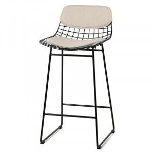 Set 2 perne crem din in pentru sezut si spatar scaun bar Sand HK Living