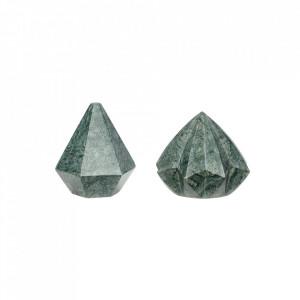 Set 2 prespapieruri verzi din marmura si hartie Sofia Hubsch
