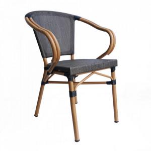 Set 2 scaune dining bej din textil si aluminiu Alice Sit Moebel