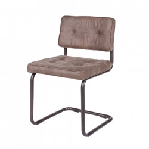 Set 2 scaune dining gri din textil si metal Jalmar Woood
