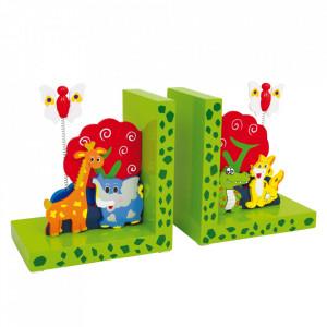 Set 2 suporturi pentru carti din lemn Wild Animals Small Foot