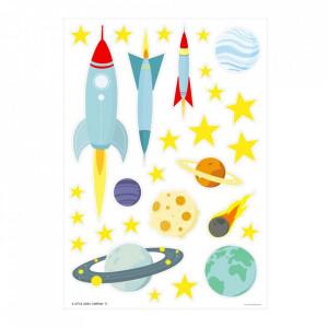 Set 29 stickere pentru perete multicolore din vinil Space A Little Lovely Company