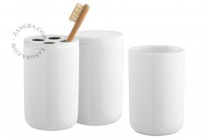 Set 3 accesorii baie din ceramica White Webb Zangra