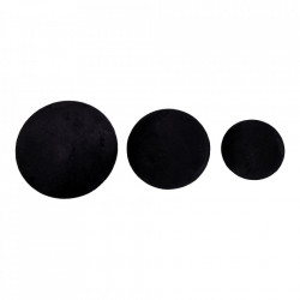Set 3 agatatori negre din catifea Giza House Nordic