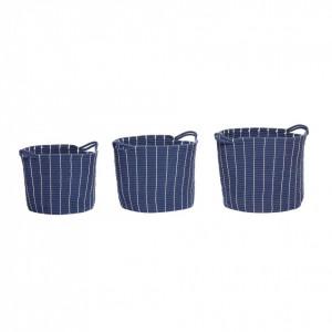 Set 3 cosuri albastre din bumbac Carly Hubsch