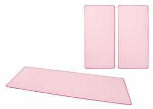 Set 3 covoare roz Bed-Border Fancy Uni Hanse Home
