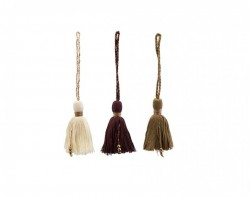 Set 3 decoratiuni suspendabile multicolor Tassel House Doctor