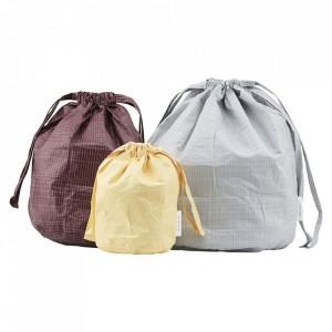 Set 3 sacose multicolore din tyvek Travel Monograph