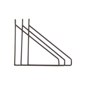 Set 3 suporturi negre din metal pentru rafturi Apart House Doctor