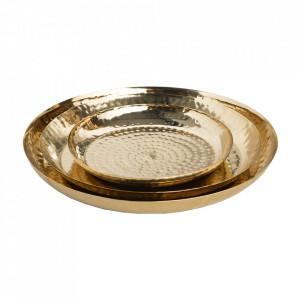 Set 3 tavi decorative aurii din metal Orient Invicta Interior