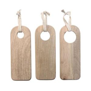 Set 3 tocatoare din lemn de mango 40x15 cm HK Living