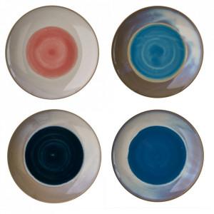 Set 4 farfurii multicolore din ceramica 20 cm Panorama Pols Potten