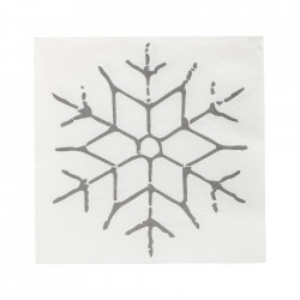 Set 40 servetele 20x20 cm Snowflake House Doctor