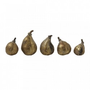 Set 5 decoratiuni aurii din polirasina 7,5 Pumpkin Creative Collection