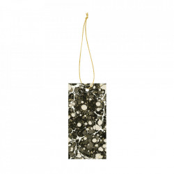 Set 6 etichete din carton Marbling Black Ferm Living