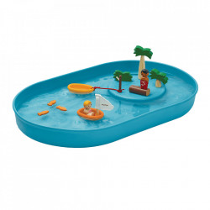 Set de joaca 12 piese din lemn Water Play Plan Toys