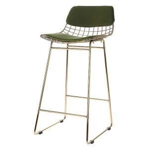 Set perne catifea verde pentru sezut si spatar scaun bar HK Living