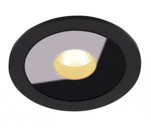 Spot LED negru din metal si sticla Plasma Flush Maxlight
