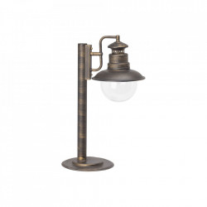 Stalp de iluminat negru/auriu din metal si sticla pentru exterior 53 cm Artu Brilliant
