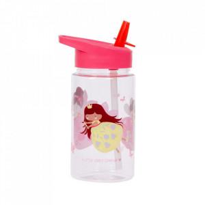 Sticla pentru apa roz din polipropilena 450 ml Fairy A Little Lovely Company