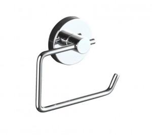 Suport argintiu din otel pentru hartia igienica Vacuum-Loc Toilet Roll Milazzo Wenko