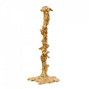Suport auriu din aluminiu pentru lumanare 50 cm Drip XXL Pols Potten