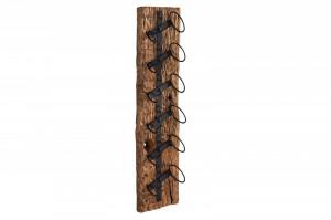 Suport de perete maro din lemn de tec pentru sticle Euphoria Invicta Interior