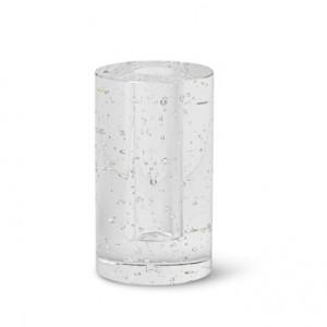 Suport din sticla pentru lumanare Bubble Cylinder Ferm Living
