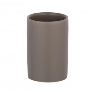 Suport grej din ceramica pentru periuta dinti 7x11 cm Polaris Wenko