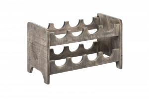 Suport gri din lemn pentru sticle Bodega Invicta Interior