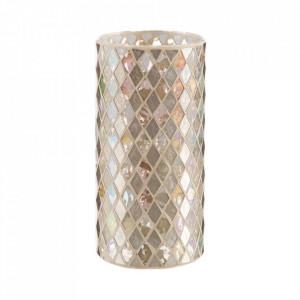Suport lumanare aurie din sticla 25 cm Masam Ixia