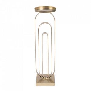 Suport lumanare auriu din fier 52 cm Proa Dutchbone