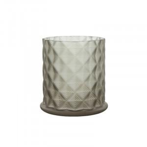 Suport lumanare maro din sticla 12 cm Moswen Lifestyle Home Collection