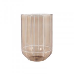 Suport lumanare maro din sticla 15 cm Levon Lifestyle Home Collection