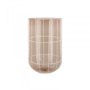 Suport lumanare maro din sticla 20 cm Levon Lifestyle Home Collection